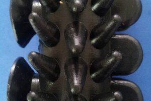 Negro Hule Rodillo de Masaje Reductivo Negro